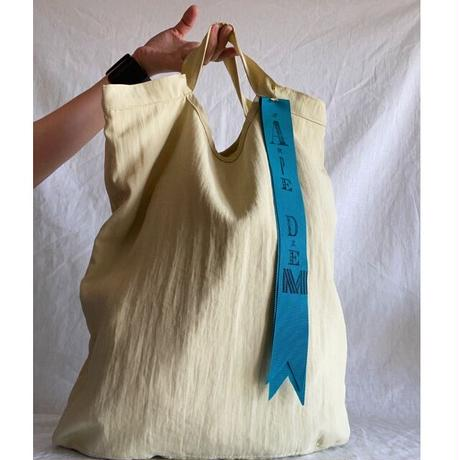 pastel color tote bag (pastel yellow)