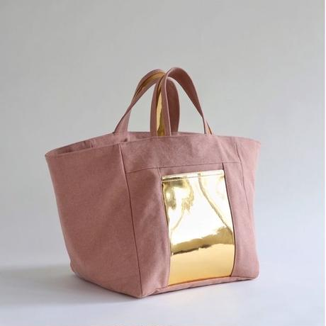square canvas tote bag (coral)