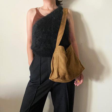 french linen herringbone shoulder bag (khaki gold)