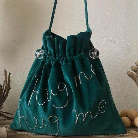 """""""hug me"""" shoulder bag  (dark green)"""
