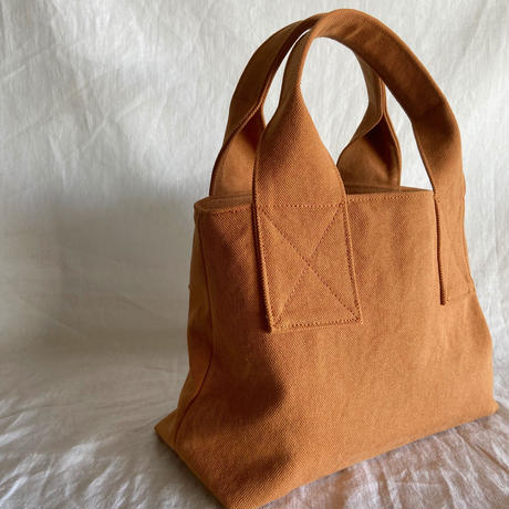 canvas tote bag mini (camel)