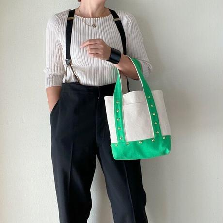 canvas tote bag medium (green)