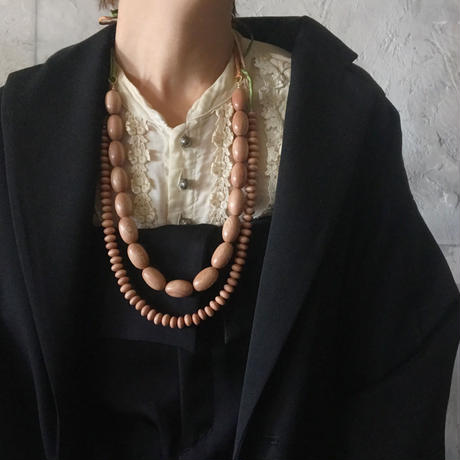 rosewood beads necklace (rice)