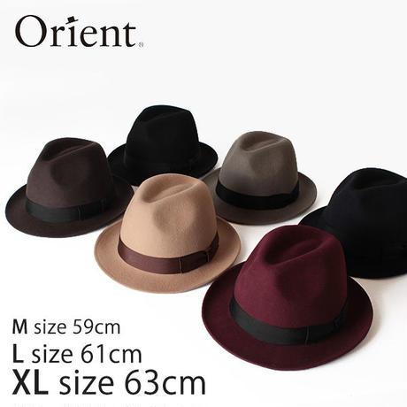 Orient オリエント フェルトハット 中折れハット M59cm L61cm XL63cm 大きいサイズ 帽子 YS205