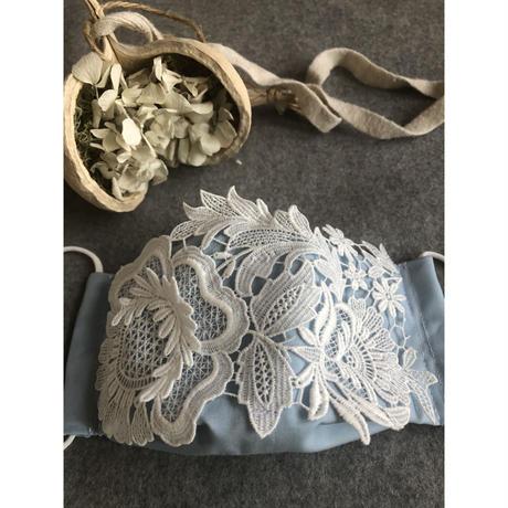 白いお花マスク