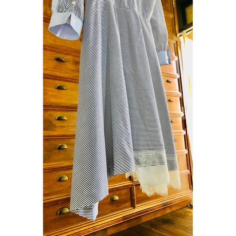 裾レース羽織りワンピース
