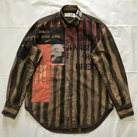 Newアナーキーシャツ メンズM  ダークブラウン035