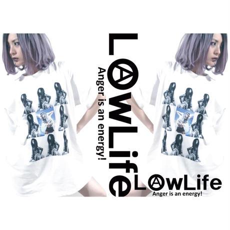 Manthonie × LowLife コラボTee ホワイト