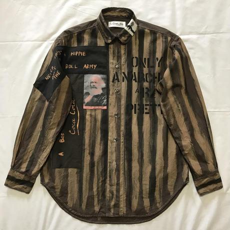 Newアナーキーシャツ メンズL  ダークブラウン036