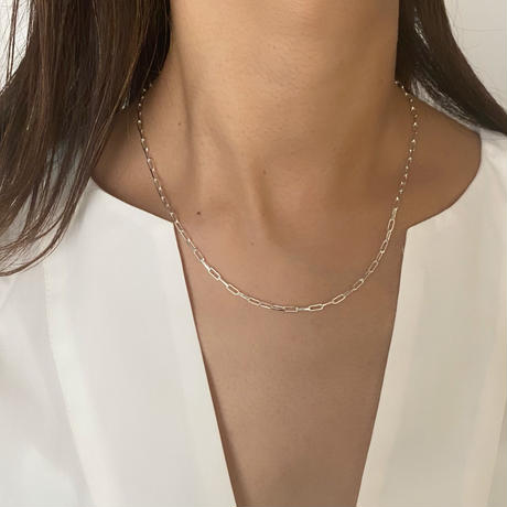necklace-a02061  SV925  Square  Chain  Silver  Necklace