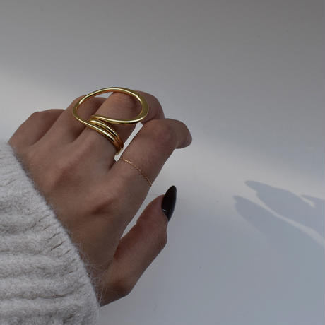 ring-a02085  K18 Gold  Chain Ring