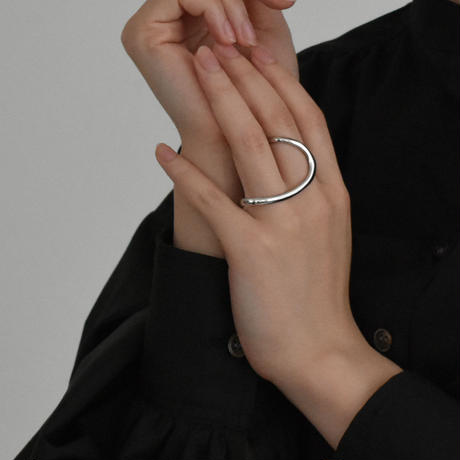 ring-a02033  SV925 Two Finger Ring