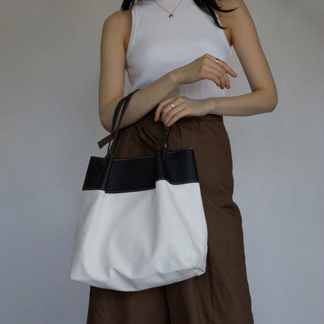 bag-a02004  Canvas EcoLeather Totebag