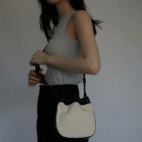 bag-a02002  Canvas Circle  2way Shoulderbag