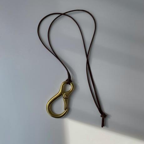 necklace-a02050 Brass Keyhook Necklace