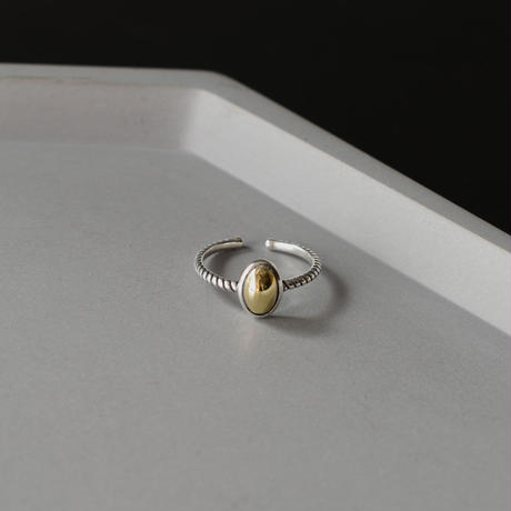 ring-a02076  SV925  Oval Metal Ring