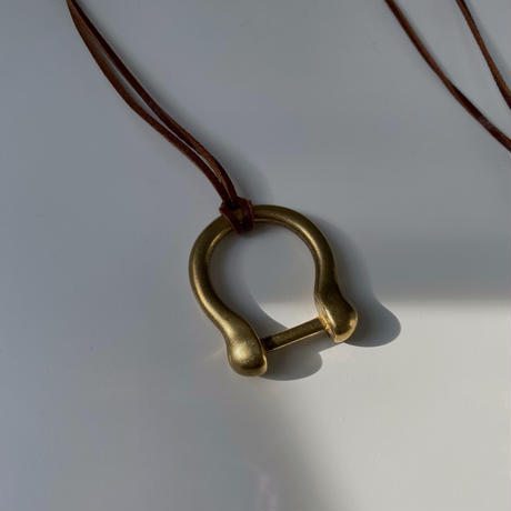 necklace-a02051 Brass  Buckle  Long  Necklace