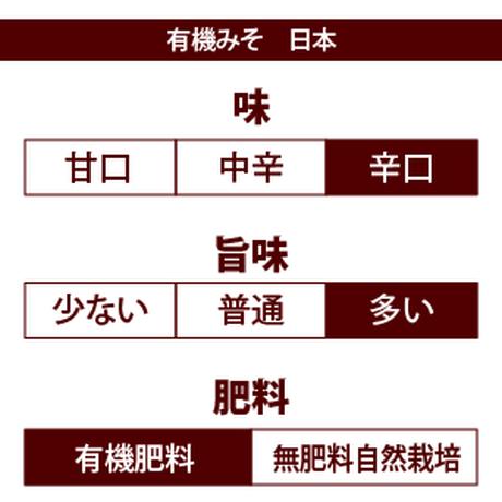 有機みそ 日本(マルカワみそ) 600g