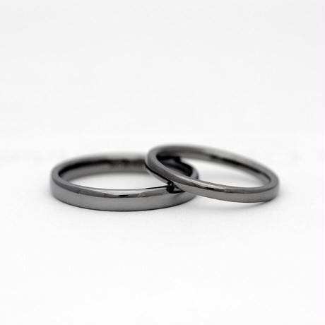 [Artisan Works] タンタル / 結婚指輪 ラウンド(甲丸)【金属アレルギー対応マリッジリング】2本セット