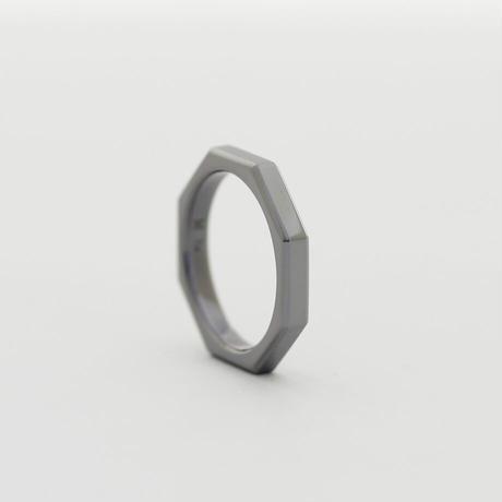 タンタル オクタゴンリング(八角リング)【金属アレルギー対応リング】[Artisan Works] 指輪 / 結婚指輪 / tantalum / 金アレ対応