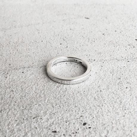 [INITIAL] Silver925 / シンプル・フラットリング / 文字刻印ver.