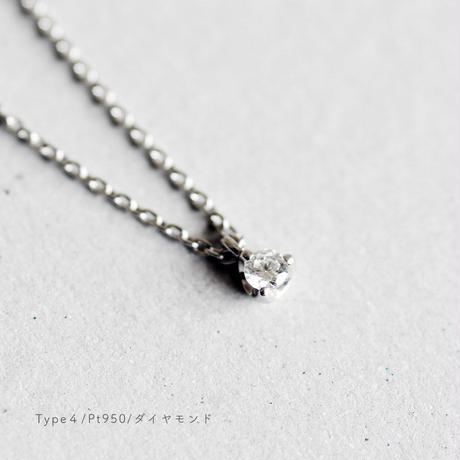 Pt950 / Birthday Stone Necklace 誕生石ネックレス【Type4-A】