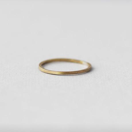 [10min Ring]  Brass / 真鍮 スクエアリング