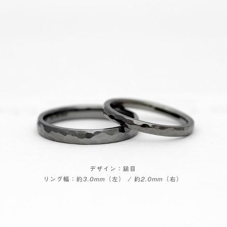 [Artisan Works] タンタル / 結婚指輪 鎚目【金属アレルギー対応マリッジリング】2本セット