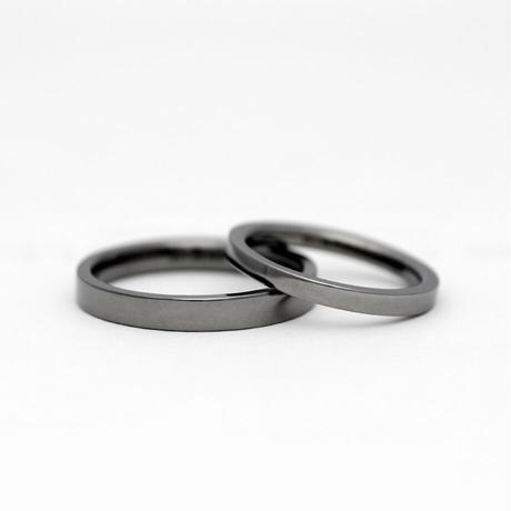 [Artisan Works] タンタル / 結婚指輪 フラット(平打ち)【金属アレルギー対応マリッジリング】2本セット