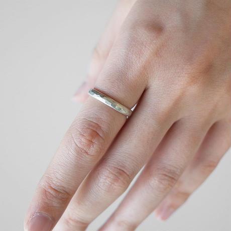 [10min Ring] Silver925 / シルバーリング 鎚目 M