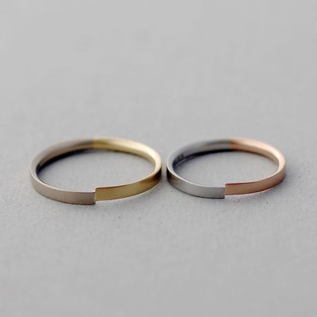 [Artisan Works] プラチナ×K18PG,K18BG×K18YG / Combinationマリッジリング・結婚指輪【Nodus(ノードス)】2本セット