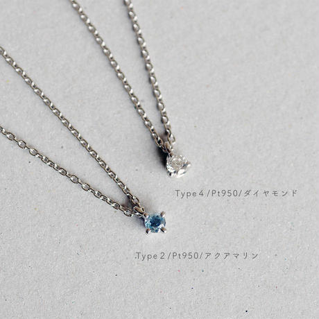 Pt950 / Birthday Stone Necklace 誕生石ネックレス【Type2-C】