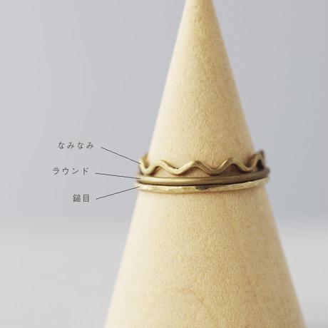[10min Ring]  Brass / 真鍮 鎚目リング