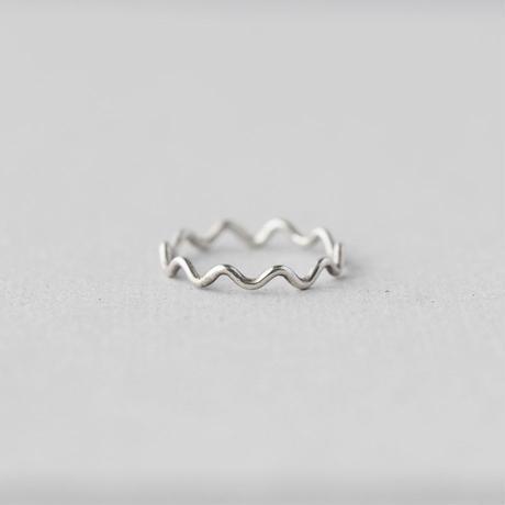 Silver925 なみなみリング(ラウンド) [10min Ring]  シルバーリング / シルバー925