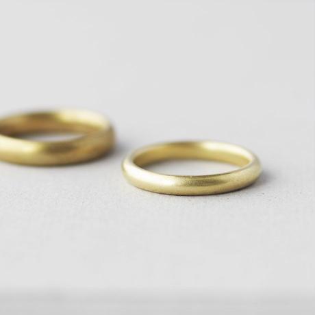 真鍮 甲丸リング M [10min Ring]  Brass / 太め / 幅広リング