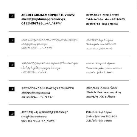 [Artisan Works] 文字刻印 / フォント文字・オプション
