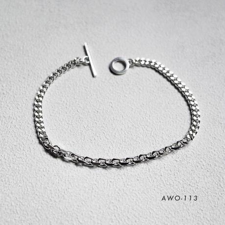 [ONE OFF] Silver925 / チェーンブレスレット / 1点物アクセサリー シルバー925