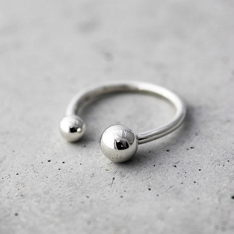[Artisan Works] Silver / Double Ball Ring / シルバー フリーサイズ リング
