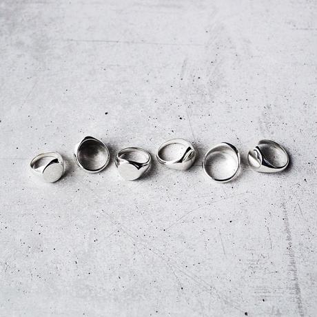 [INITIAL] Silver925 / シグネットリング・印台リング・サークル / 文字刻印ver.