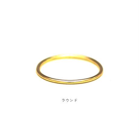 [10min Ring] K18YG / 18金イエローゴールド / 幅1.0mm / デザインを選べるセミオーダーリング