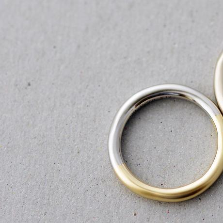 [Artisan Works] プラチナ×K18YG&K18BG / Combinationマリッジリング・結婚指輪【Novum(ノウム)】2本セット