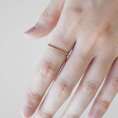 K14GF ボールリング [10min Ring] 華奢な指輪 / ゴールドフィルド
