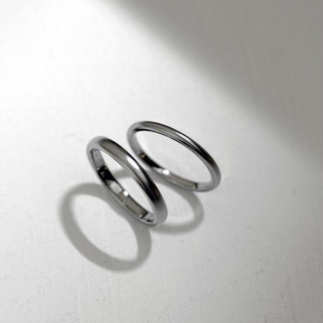 [Artisan Works] チタン / マリッジリング・結婚指輪【金属アレルギー対応】2本セット