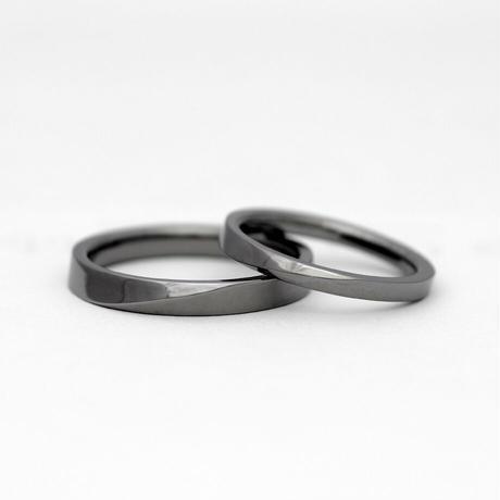 [Artisan Works] タンタル / 結婚指輪 エッジ(切り返し)【金属アレルギー対応マリッジリング】2本セット