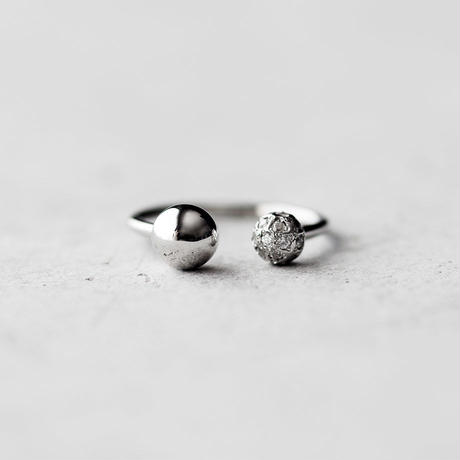 [Artisan Works] Pt950 / Diamond Ball Ring / ダイヤモンド0.21ct
