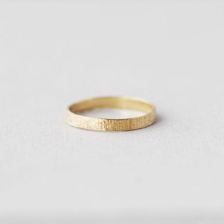 [10min Ring] K14GF / 平打ちリング(マット鎚目)