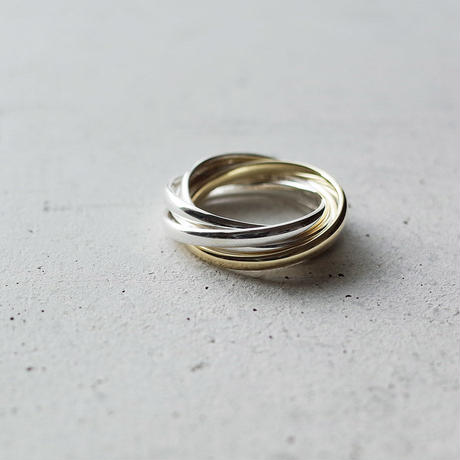 "[Artisan Works] Silver×Brass / 5連Ring ""Quintuple"""