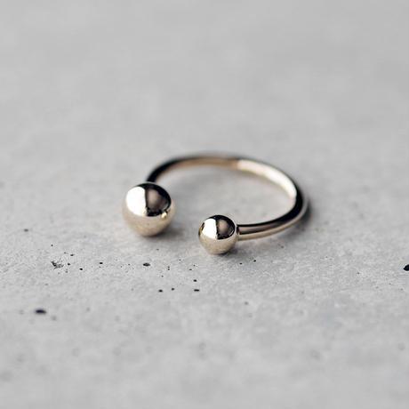 [Artisan Works] K10 / Double Ball Ring / 10金 フリーサイズ リング
