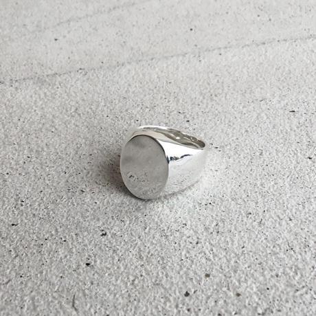 [INITIAL] Silver925 / シグネットリング・印台リング・エリプス / 文字刻印ver.