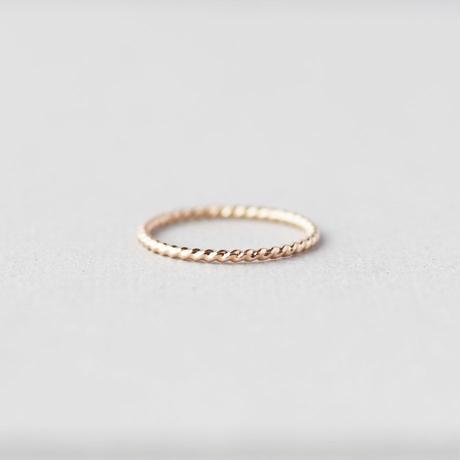 [10min Ring] K10PG / 10金ピンクゴールド より線リング